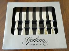 Set of Six (6) Gorham Meredith Stainless Flatware Hors d'Oeuvres Knives