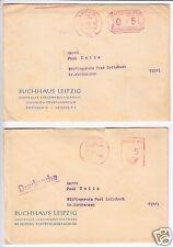 PFS, Leipzig, 70, zwei Varianten, o Leipzig, 70, 8.1.65 bzw. 19.3.66,+ Schreiben