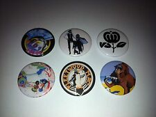 6 Fleetwood Mac button badges Rumours Tusk Mystery to Me Kiln House Penguim Time