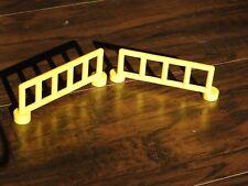 Lego Duplo Yellow Fence Lot of 2