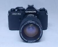 CHINON CM-4s Vintage SLR 35mm Film Camera SOLIGOR 28-80mm f/3.5 Zoom Macro Lens