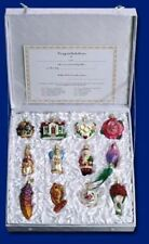 OLD WORLD CHRISTMAS WEDDING TREE 12 GLASS HAND BLOWN ORNAMENTS BOXED GIFT SET