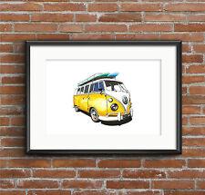 VW Split Screen Campervan POSTER PRINT A1 size