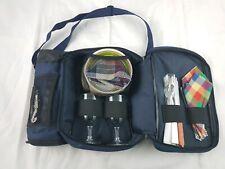 Gelert Picnic Set In Shoulder Bag Insulated Wine Compartment Camper Festival