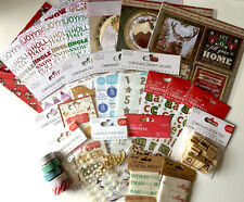 Christmas Craft Box - 20+ Items - Toppers/Stickers/Ribbon/Tape etc - RRP £55+!