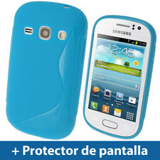 Azul S Line Funda TPU Gel para Samsung Galaxy Fame S6810 Smartphone Carcasa
