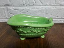 Vintage Claw Foot Tub Soap Dish Holder Bright Green Ceramic.