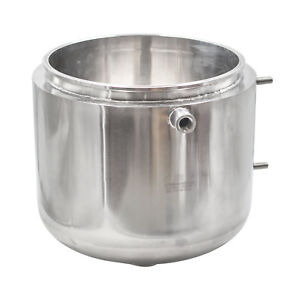 """HFS(R) 12"""" Jacketed Honey Pot Oil Collector with Bottom Pour Spout SS304"""