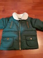 M&S Baby Boy winter coat padded faux fur 0/3 months