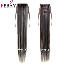 FEBAY Wrap Around Ponytail Real Natural Silky Clip in Hair Extensions Straight