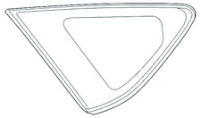 """Fits 12-17  Prius """"V"""" Left Driver Side Rear Fixed Quarter Glass OE"""
