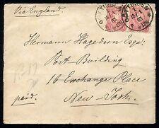 "GÖTTINGEN 1883 REGISTERED COVER to NEW YORK ""VIA ENGLAND"""