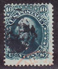 US Scott 68a old 10c Washington dark green U/F CV $85