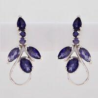 excellent Iolite 925 Sterling Silver Blue Natural gemstones CA gift