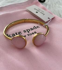 New kate spade pearl drop light pink hinged cuff Bracelet beautiful gift