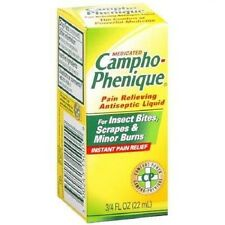 2pc 0.75oz Medicated Campho Phenique Instant Pain/Itch Relief Antiseptic Liquid