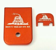 Mag Magazine Base Floor Plate for Glock  9mm & 40 Dont Tread On Me Red, Combo