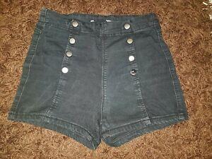 Damen hot pants Gr.XS Shorts kurze Hose schwarz