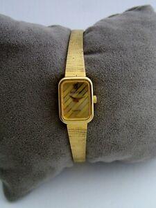 ACCURIST VINTAGE WATCH WOMENS 981000 GOLD STAINLESS STEEL BRACELET GENUINE