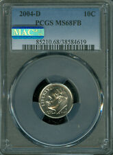 2004-D ROOSEVELT DIME PCGS MS-68 FB PQ MAC FINEST MAC SPOTLESS *