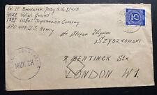 1947 Dachau Germany Civil Censorship cover To London England Polish Guard