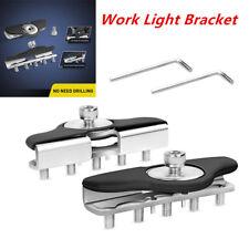 Universal Hood Mounting Brackets for LED Work light Bars Clamp Holder Durable