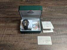 Swiss Military Watch (by Chrono) - Black Dial w/ Black Rubber Strap - 20030