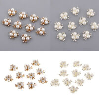 20x Crystal Rhinestone Pearl Flower Embellishment Buttons Flatback Decor Lot