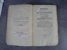 C.M. Lusardi Mémoire cataracte congéniale Monoyer ophtalmologie optique médecine