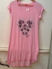 NWT Betsey Johnson Small Pink Sleep Shirt Pajamas Heart XOX Betsey MSRP $38.00