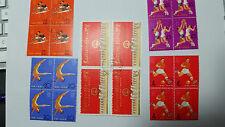 CN07 China 1965 PRC C116 2nd National Games of PRC set of 11 Block of 4 CTO OG