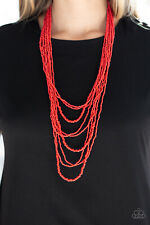 Totally Tonga Red Necklace By: Paparazzi