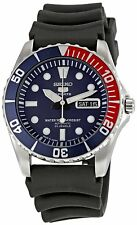 SEIKO 5 SPORTS SNZF15J2 Casual Men's Watch with Black Rubber Band from Japan
