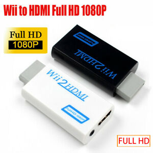 WII to HDMI 1080P Converter Wii2HDMI Audio Output 3.5mm Jack Adapter Portable