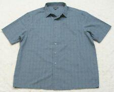 George Gray Pocket Dress Shirt 2XL 50-52 Short Sleeve Mens Mans Top Button Front
