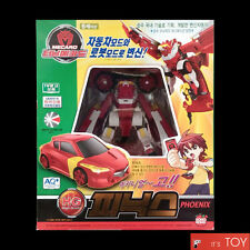 Turning Mecard HG PHOENIX Red High Grade Real Type Transformer Robot Car Toy