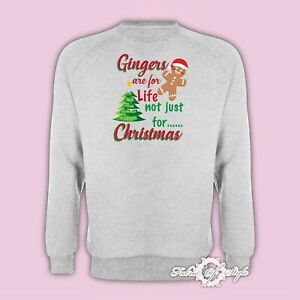 Gingers Are For Life Not Just For Christmas  Value Xmas SANTA GIFT Jumper Grey