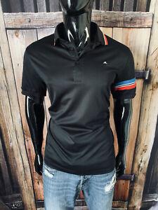 J.Lindeberg Short Sleeve Black Red & Blue Polo Shirt Size Large Regular Fit