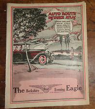old road atlas map advertising The Berkshire Eagle newspaper