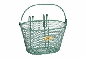 Nantucket Bicycle Basket Co. Surfside Child Mesh Wire Basket Turquoise 9.75 x...