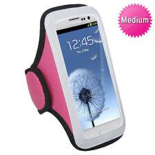 Pink Gray Sports Gym Running Jogging Walking Armband Case Phone Holder Strap