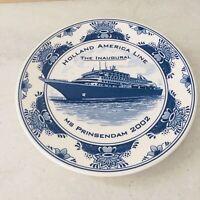Holland America Line - MS Amsterdam 2002 Souvenir Plate - Royal Goedewaagen
