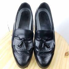 Dexter Mens Wingtip Brogue Kilt Tassel Size 10.5 M Black Casual Dress Shoe