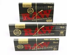 Limited Edition RAW BLACK PAPER DEAL KING SIZE 1 1/4 AND SINGLE WIDE