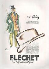 ▬► PUBLICITE ADVERTISING AD Fléchet Chapeau Parfait Facon Marrec