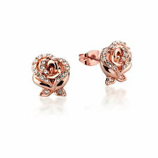 Disney Beauty & the Beast Rose Gold-Plated Rose Earrings by Couture Kingdom