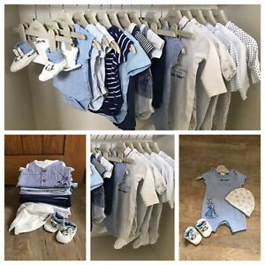 Baby Boy's Clothes Bundle Age: Newborn, 0-1 Months Sleepsuits, Vests And Outfits