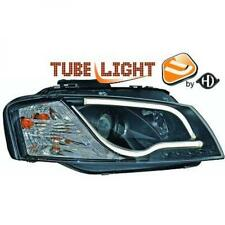 LHD Projector Headlights Pair LED lightbar DRL Clear Black For Audi A3 03-0