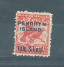 Cook Is Penrhyn 1903 1/- red sg.16a MH small rust spot