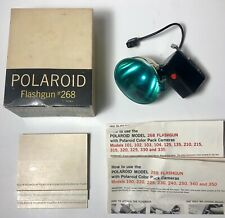 Vintage Polaroid Bundle 268 Flashgun w Box Polarcolor Print Mounts Instructions